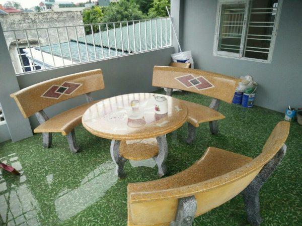 bàn ghế đá mài 1 mặt