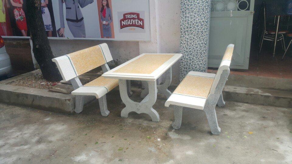bàn ghế đá ngoài trời k89