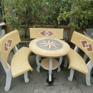 bàn ghế đá granito 12
