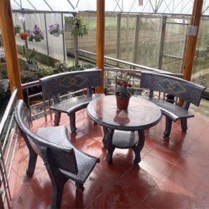 bàn ghế đá ngoài trời 12