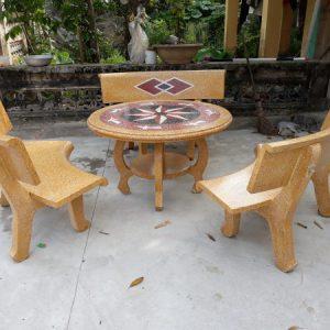 bàn ghế đá sân vườn đẹp bền