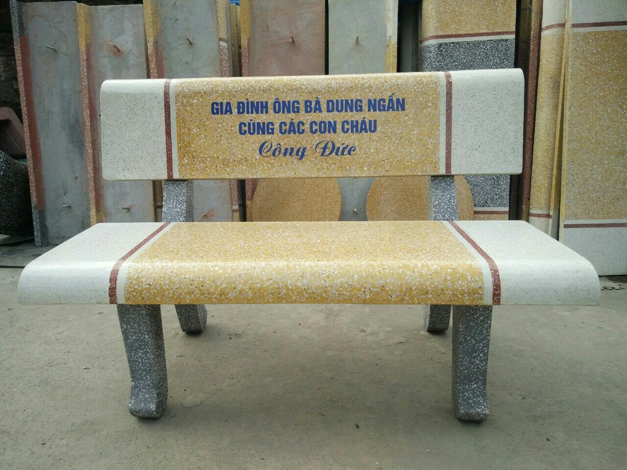 ghế đá công viên 01