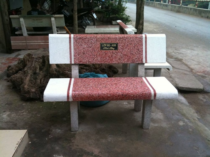 ghế đá công viên 03