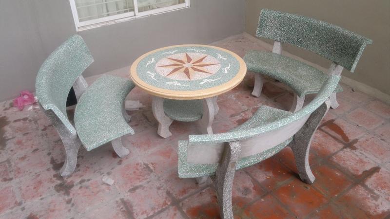 bàn ghế đá 45