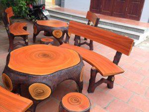 Cách làm bàn ghế đá giả gỗ chất lượng cao