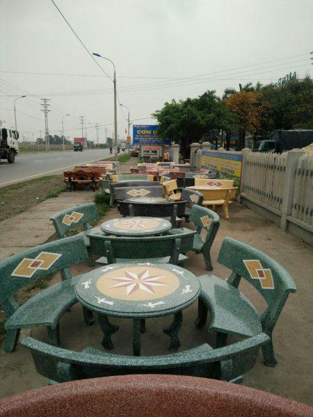 bàn ghế đá sân vườn 9936