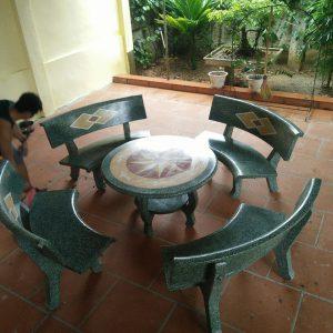 bàn ghế đá ngoài trời giá rẻ