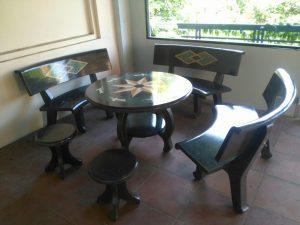 bàn ghế đá granito đẹp