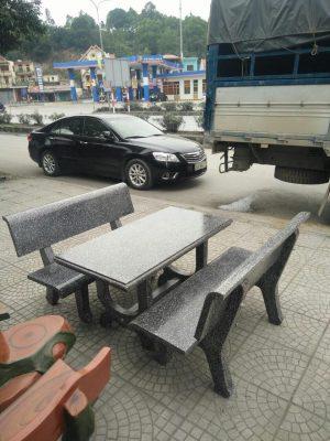 bàn ghế đá ghi 2 mặt
