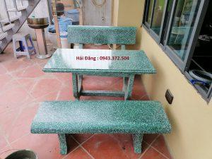 bàn ghế đá v12