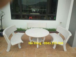 Lựa chọn bàn ghế đá cho không gian sân vườn sang trọng