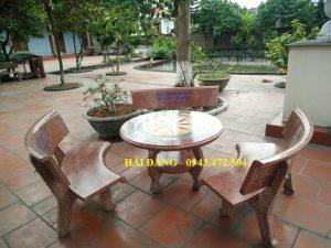 bộ bàn ghế đá x6
