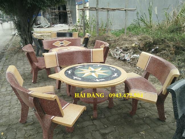 bộ bàn ghế đá x5
