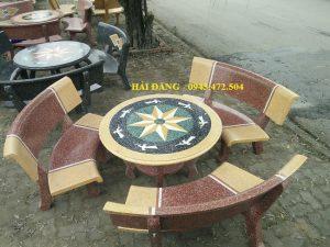 bộ bàn ghế đá x2