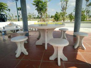 bộ bàn ghế đá x1