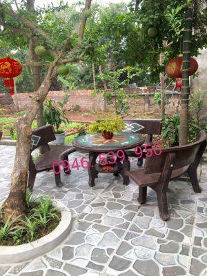 bàn ghế đá cafe