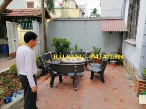 bộ bàn ghế đá x15
