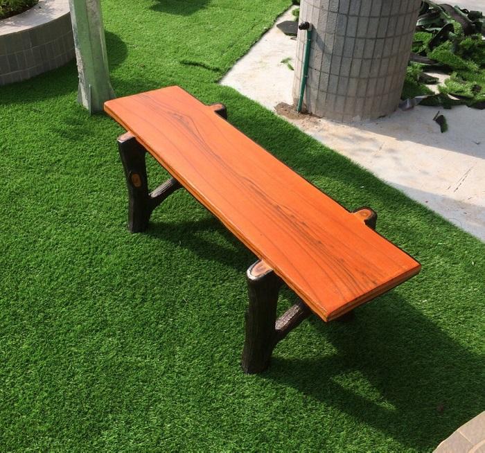 ghế đá giả gỗ không tựa