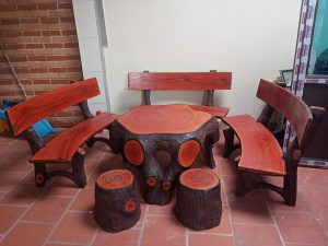 Mua bàn ghế xi măng giả gỗ chất lượng