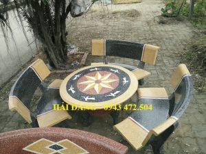 bộ bàn ghế đá x11