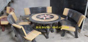 bộ bàn ghế đá x10