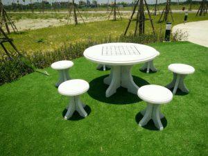 bàn ghế đá sân vườn b90