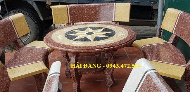 bộ bàn ghế đá x9