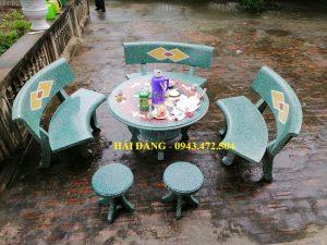 bộ bàn ghế đá x7