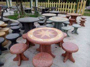 bàn ghế đá đôn