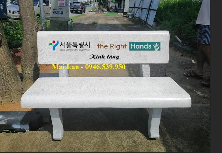 ghế đá trắng Hải Đăng